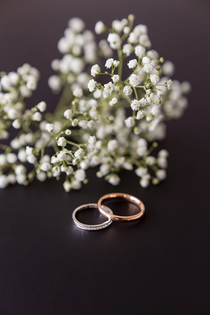 photo des préparatifs de mariage
