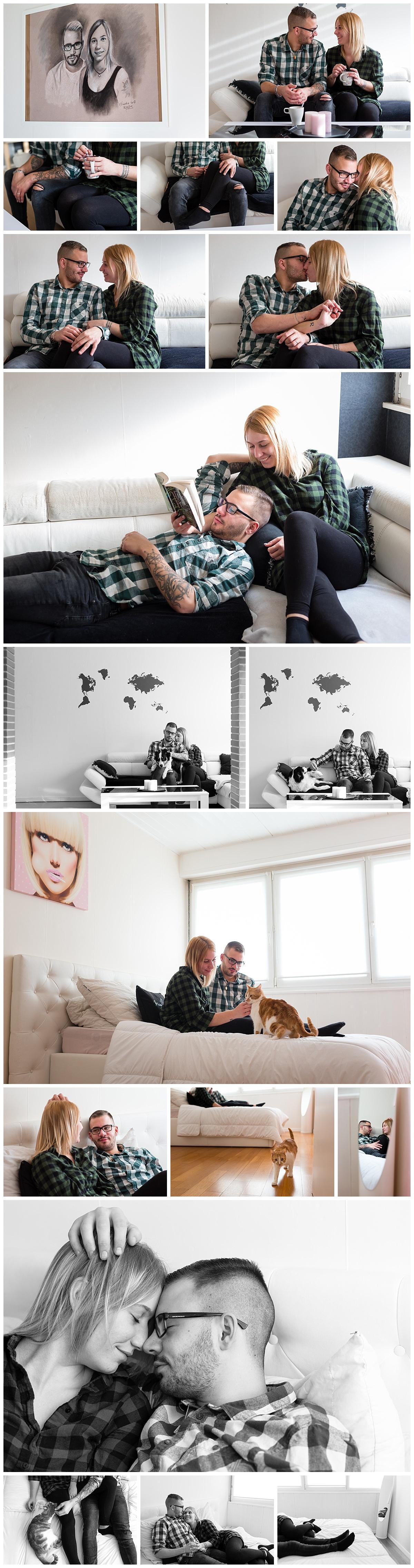 photos de couple à la maison