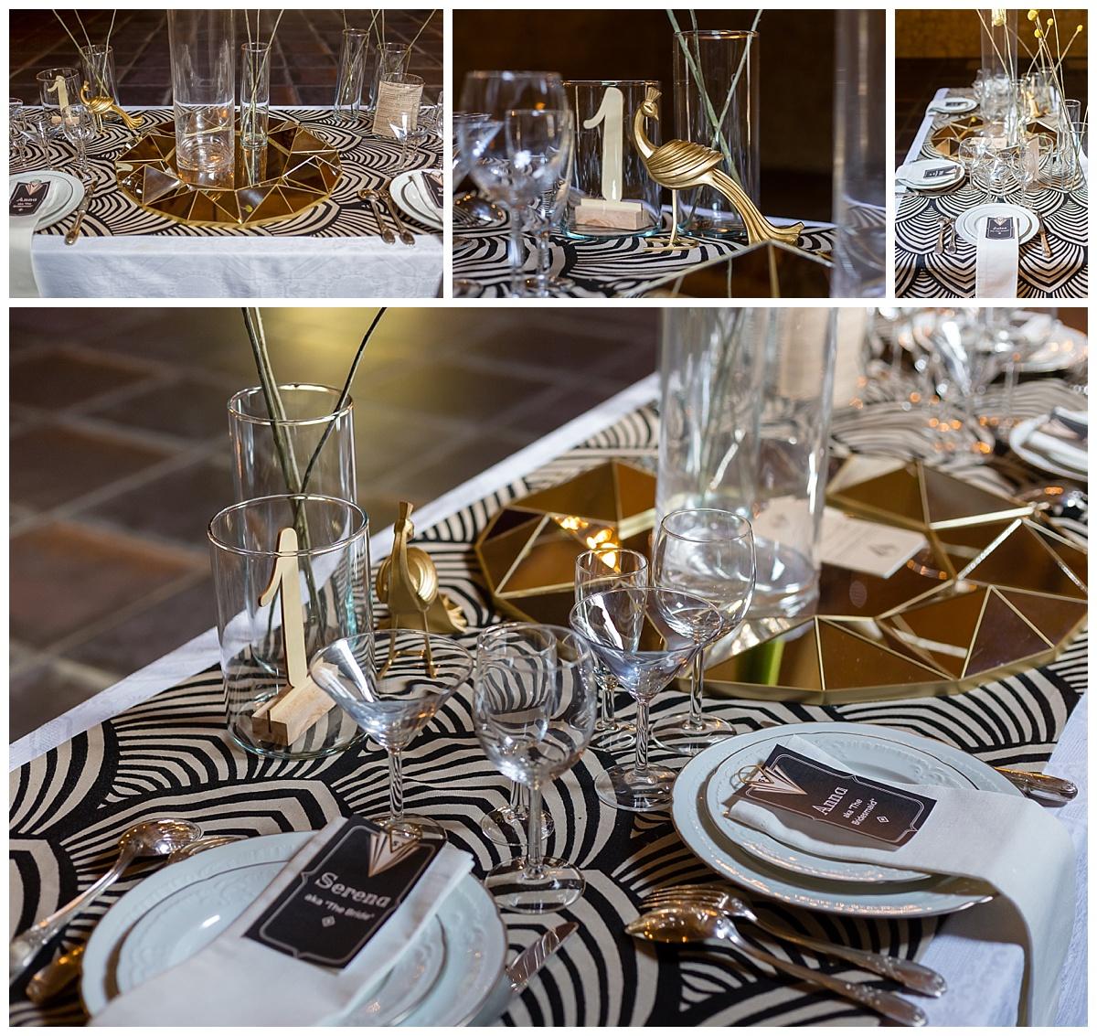 décoration de table mariage Art Déco