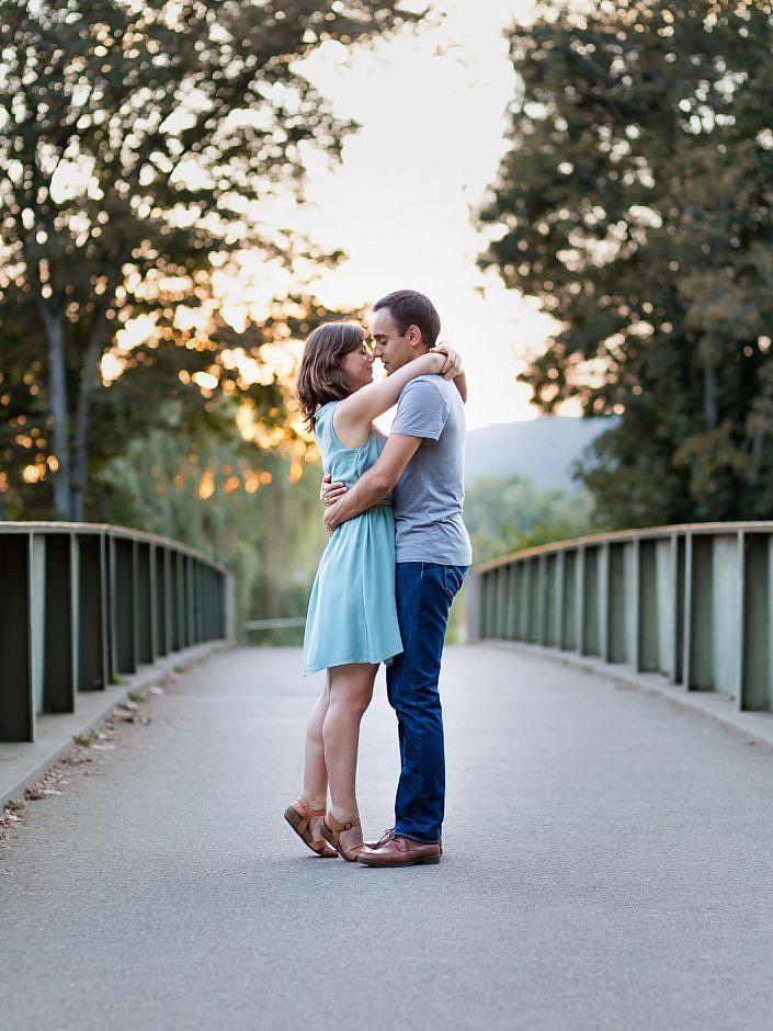 photo de couple au plan d'eau a metz